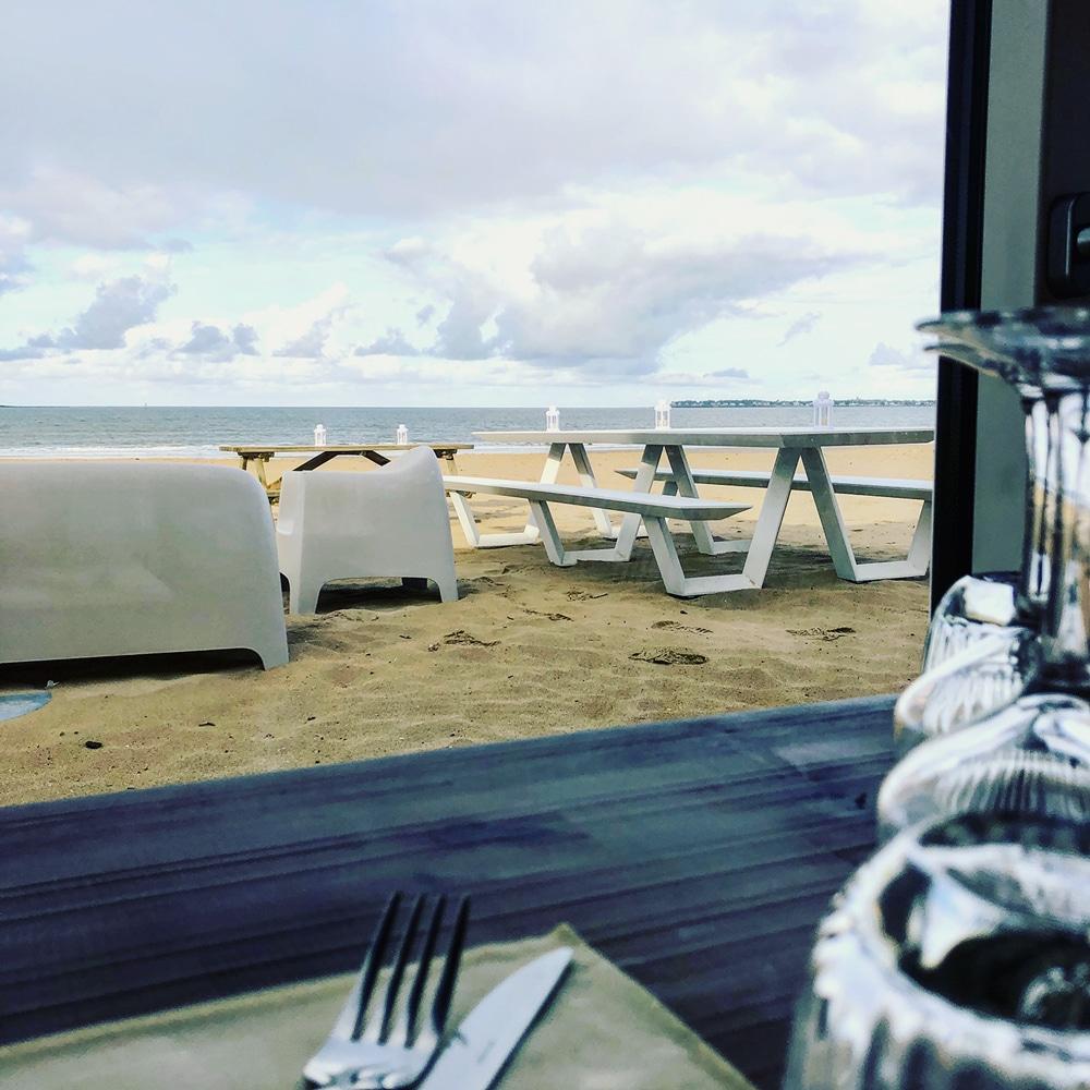 Restaurant sur la plage de pornichet